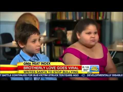 Ryan Suffern Wants Santa To Stop Bullying Of His Sister Amber Suffern #GMA - INSPIRATIONAL!!