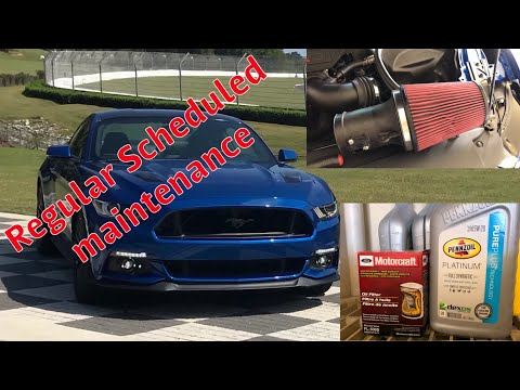Cleaning Roush Air Filter and Oil/Filter Change. Regular Maintenance on my 2017 Mustang GT.