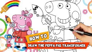 How To Drawing Cartoon Characters | Peppa Pig Youtube | Cartoon Drawing For Kids |Things To Draw