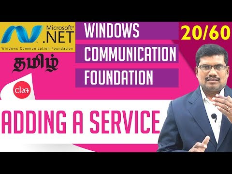 #20 Adding a Service in  C# WCF  || Windows Communication Foundation In Tamil