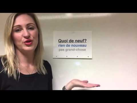 Fast and Easy French with Natasha   how to ask What's new?
