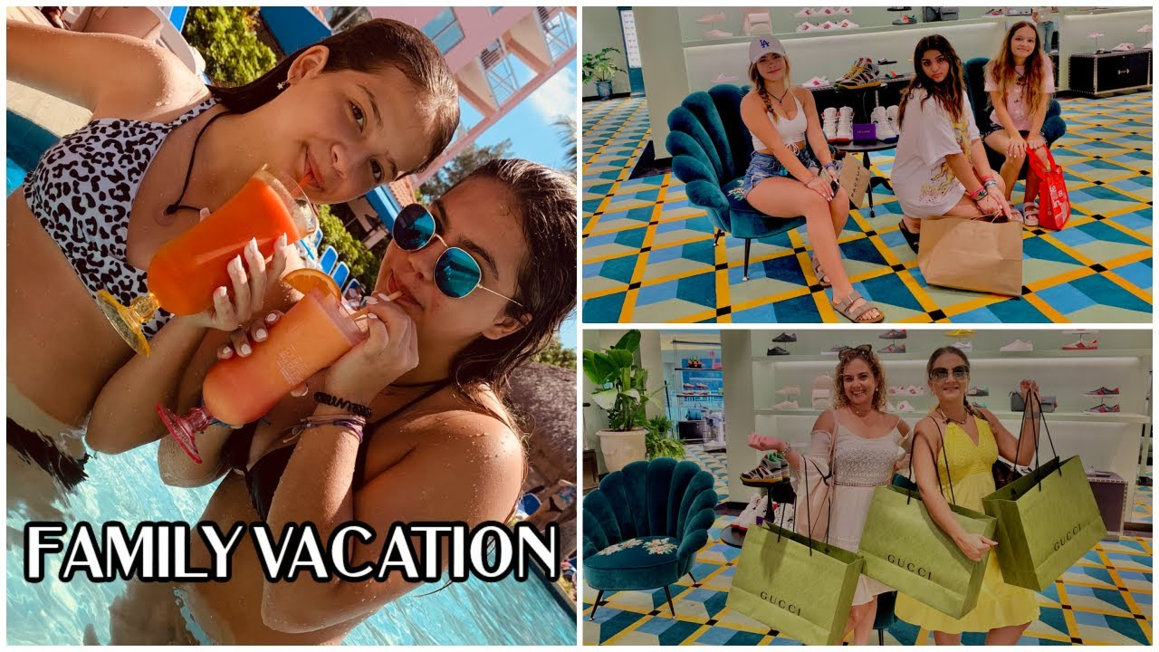 FIRST FAMILY VACATION / SHOPPING /HAUL / TRY ON | VLOG #1081