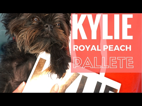 KYLIE ROYAL PEACH PALETTE REVIEW+VALENTINES LOOK