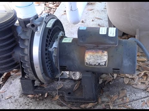 Removing an old Sta Rite Max-E-Glas 2 Pool pump motor and installing a new pump motor