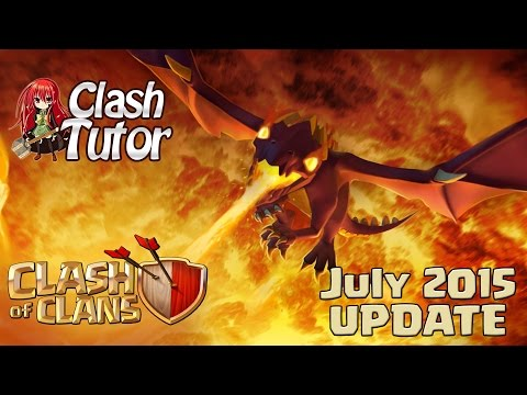 Clash of Clans July Update: Dragons Legends Spells!
