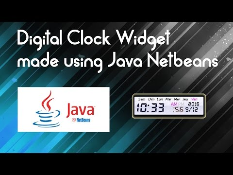 Java tutorial : Make a Digital Clock in Java and Netbeans IDE (Source code provided)