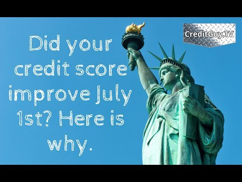 Did your credit score improve July 1st? Here is why. The National Consumer Assistance Plan 2017