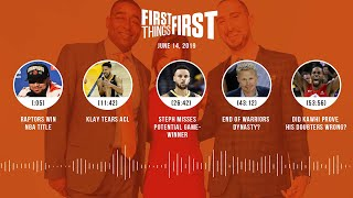 First Things First audio podcast(6.14.19)Cris Carter, Nick Wright, Jenna Wolfe   FIRST THINGS FIRST