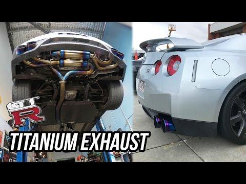 FIRST GTR MOD!! - (TITANIUM EXHAUST)
