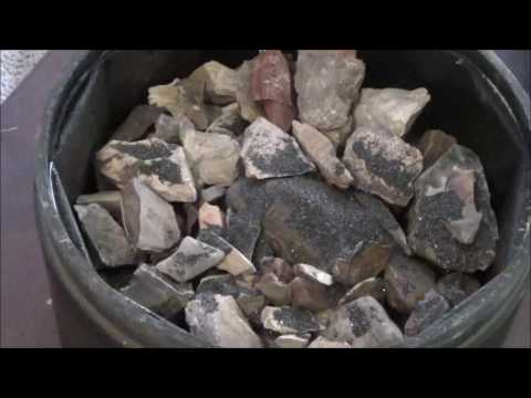 Tumbling and Polishing Rocks. Step 1. The course grit tumble.