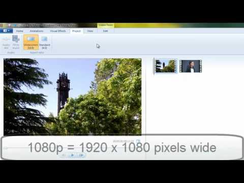 Windows Live Movie Maker: Video Aspect Ratio