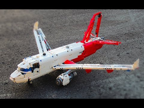 Lego Technic Passenger Plane with working control surfaces!