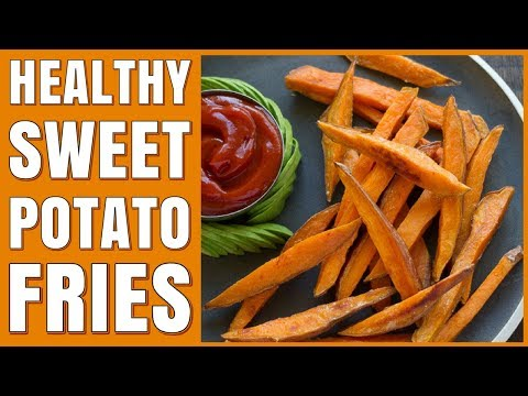 Easy Baked Sweet Potato Fries Recipe / Healthy and Baked in the Oven