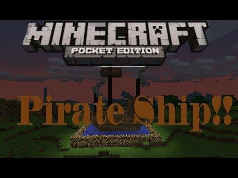 Tutorial - Mcpe - How to make a pirate ship!!!