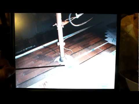 how to flash around an existing electric service mast pipe on roof