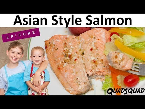 Asian Style Salmon Recipe - Epicure - Kitchen Adventures with Ethan