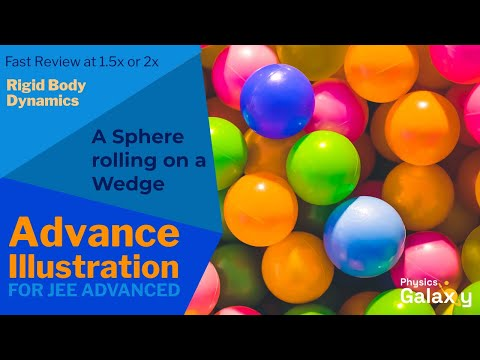 4. Class 11 Physics | Rigid Body Dynamics | A Sphere rolling on a Wedge | by Ashish Arora