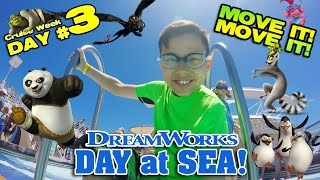 I LIKE TO MOVE IT MOVE IT!!! Dreamworks Parade at Sea! [CRUISE WEEK DAY 3]