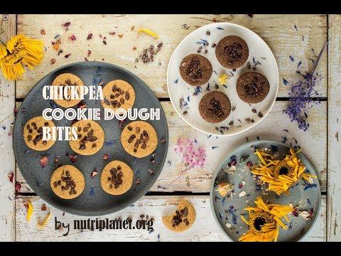 Chickpea Cookie Dough Bites aka Chickpea Cookies [Vegan, Gluten-Free, Oil-Free]