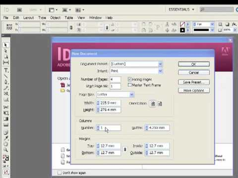 Adobe Indesign Video Tutorials in Hindi - Creating a Document Part-1 LSOIT.COM