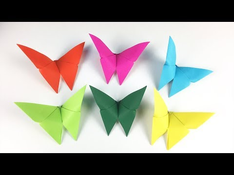 CRAFTS FOR KIDS WITH PAPER: ORIGAMI BUTTERFLY 🦋