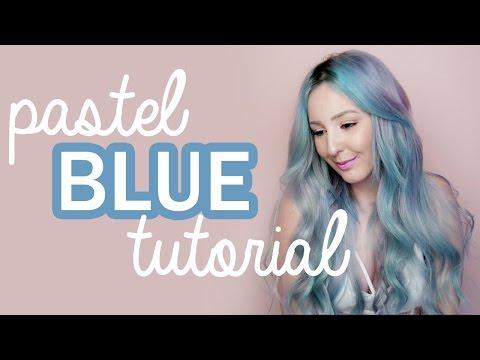How To: Pastel Blue Hair Tutorial! | by tashaleelyn