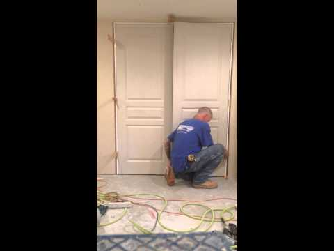 How to install a double prehung door in less than 10 minutes