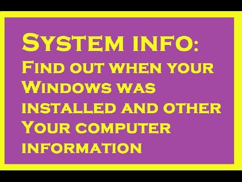 SYSTEM INFO:: CHECK YOUR COMPUTER INFORMATION