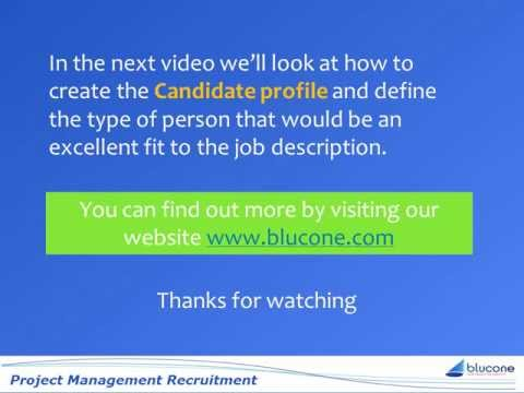 Recruiting Project Managers Project Manager Job Description video #2