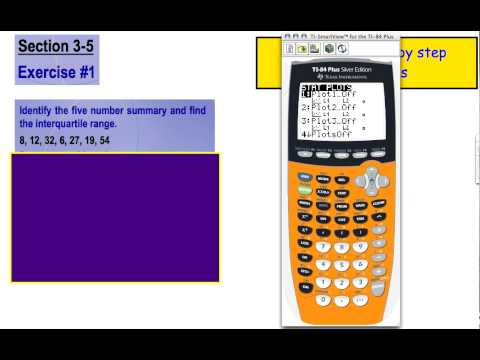Calculate Five Number Summary and IQR w/ TI-84