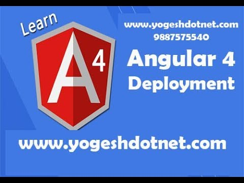 deployment of angular project | angular 4 app | hindi
