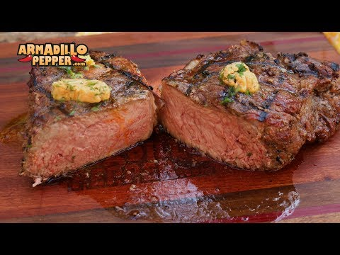 Smoked NY Strip Steak with Bourbon Butter | Masterbuilt Smoker