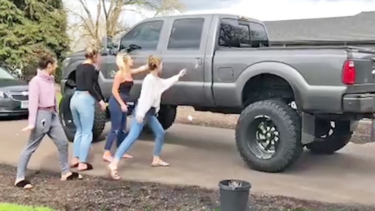 How To Get Into a Lifted Truck If You're a Girl | Girls vs Lifted Trucks