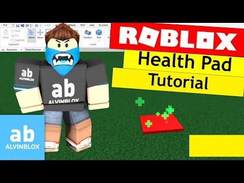 Roblox Healing Pad Tutorial - Learn How To Make A Heal Pad