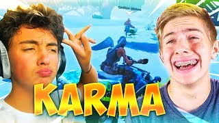 LE PLUS GROS KARMA SUR FORTNITE BATTLE ROYALE ! (Feat. MICHOU)