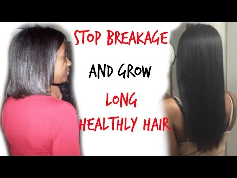 How I Stop Hair Breakage & Mend Split Ends Instantly I Relaxed and Natural Hair