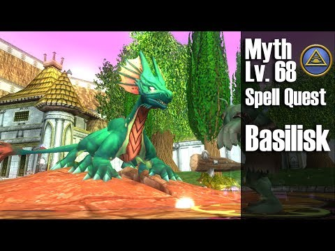 Wizard101: Basilisk: Myth Level 68 Spell Quest & Demonstration