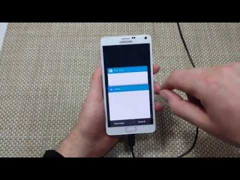 Samsung Galaxy Note 4 How to close recent or background running apps
