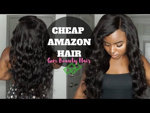 WATCH ME STYLE THIS POPPIN' CHEAP AFFORDABLE AMAZON HAIR   GEM BEAUTY HAIR SUPPLY REVIEW
