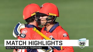 Highlights: Tasmania v South Australia, Marsh One-Day Cup 2019