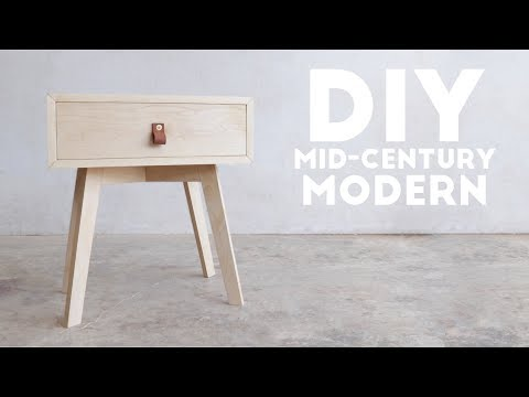 DIY Mid Century Modern Side Table / End Table | Modern Builds | EP. 69