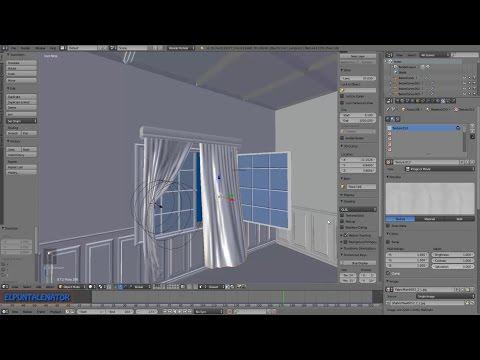 Tutorial cortina en Blender