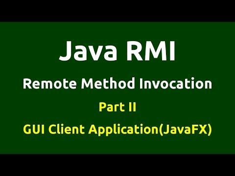 Java RMI - Part 2 - GUI - Client Server Application using JavaFX