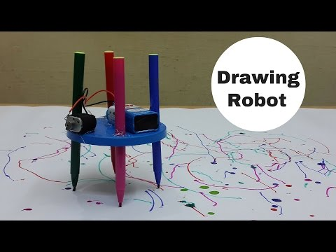 How to Make a Simple Drawing/Scribbling Robot at Home