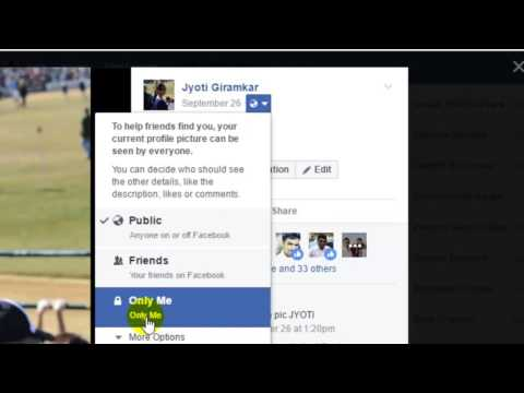 How to make cover photo private in Facebook