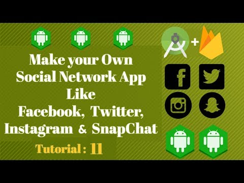 Android Studio Social Media App - Firebase Tutorial - 11 Firebase Login