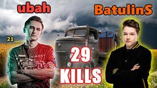 FaZe ubah & VP BatulinS - 29 KILLS - Beryl M762 + MK14 - DUO SQUADs! - PUBG