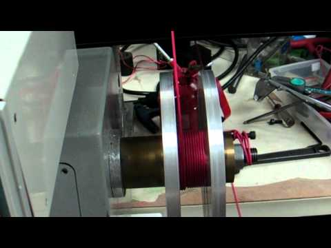 Audio inductor coil layer winding with CNC machine heavy duty guide arm