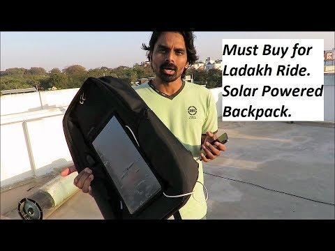Must Buy for Ladakh Ride. Solar Powered Backpack.