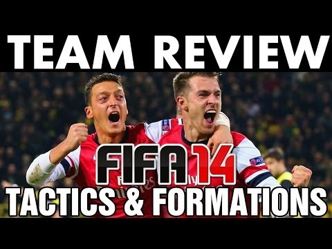FIFA 14 Arsenal FC Team Review + Guide | Best Custom Tactics / Formations - Tips & Tutorials (H2H)